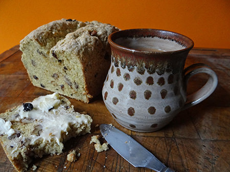 Home-made fruit and nut soda bread via @hisforhome