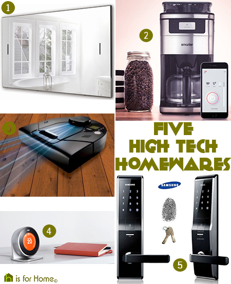 selection of five high tech homewares