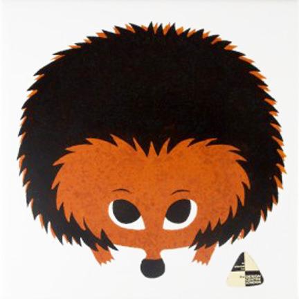 Vintage Kenneth Townsend hedgehog tile   H is for Home