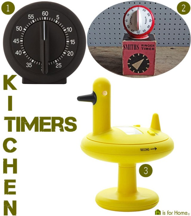 Selection of kitchen timers | H is for Home