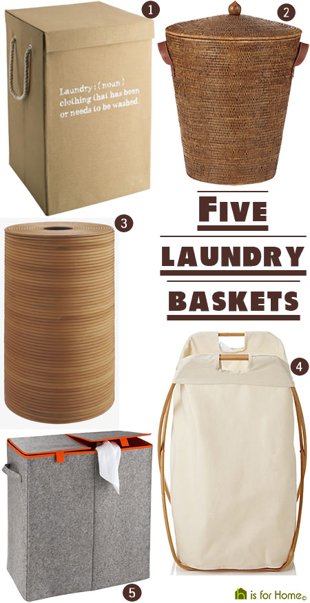 Selection of laundry baskets