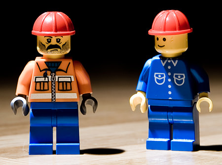 Lego construction worker figures