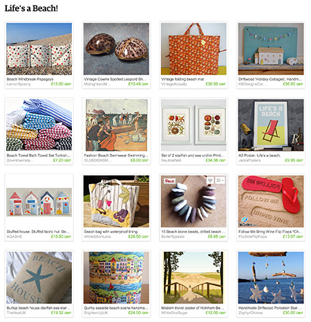 Life's a Beach! Etsy List curated by H is for Home
