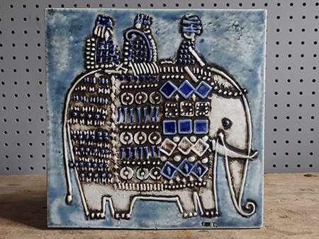 Vintage Gustavsberg Lisa Larson elephant tile