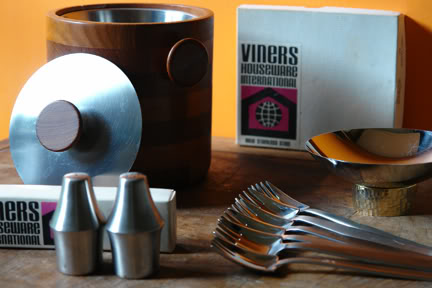 Group of vintage Viners stainless steel items | H is for Home