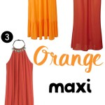 Price Points: Orange maxi summer dresses