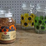 Orla Kiely coffee jars