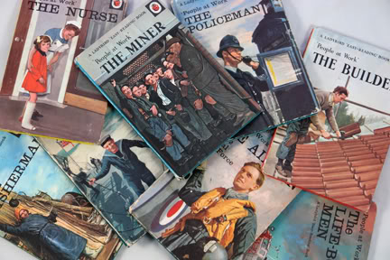 Collection of vintage occupations Ladybird books | H is for Home