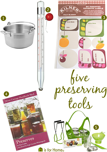 selection of preserving tools