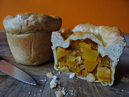 Home-made cumin-spiced pumpkin chickpea pies | H is for Home
