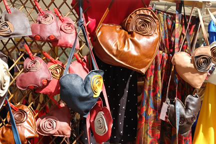 Handmade purses on Manchester Fashion Market