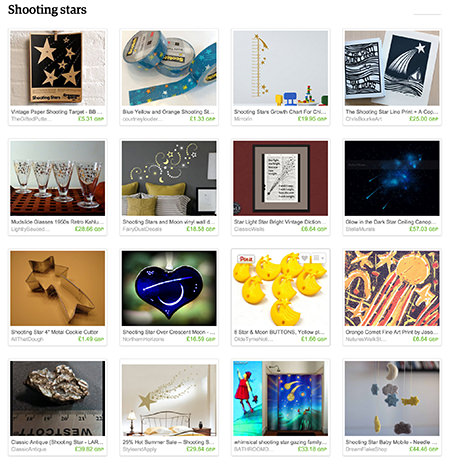 'Shooting stars' Etsy List curated by H is for Home