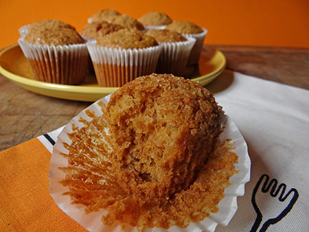 Home-made sweet potato muffins with crunchy top | H is for Home