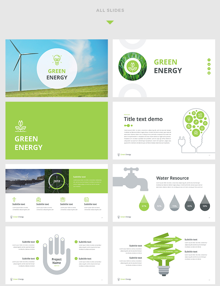 Green Energy Keynote Template - Download Now!