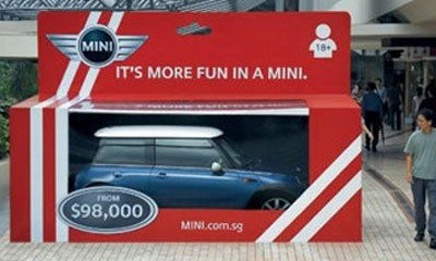9 Mini Coopers Ambient And Guerilla Marketing Ads