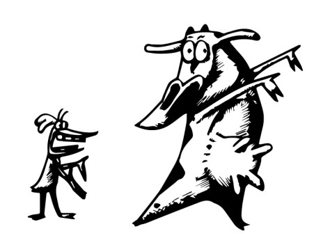 cow and chicken dessin noir et blanc outhline