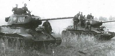 Znalezione obrazy dla zapytania Czołgi 4. Brygady Pancernej 1. Korpusu Pancernego 2. Armii Wojska Polskiego