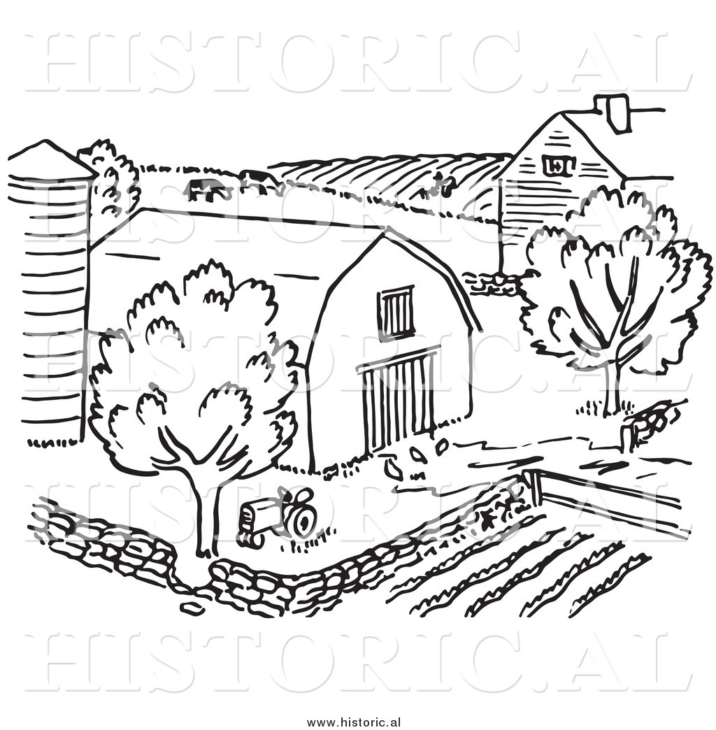 Barnyard Clipart Black And White Farm Black And White Clipart