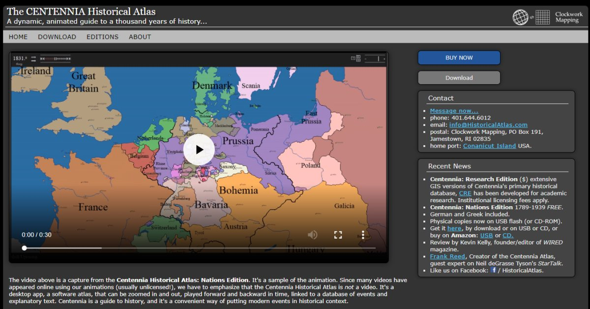 HistoricalAtlas The CENTENNIA Historical Atlas, Europe and the