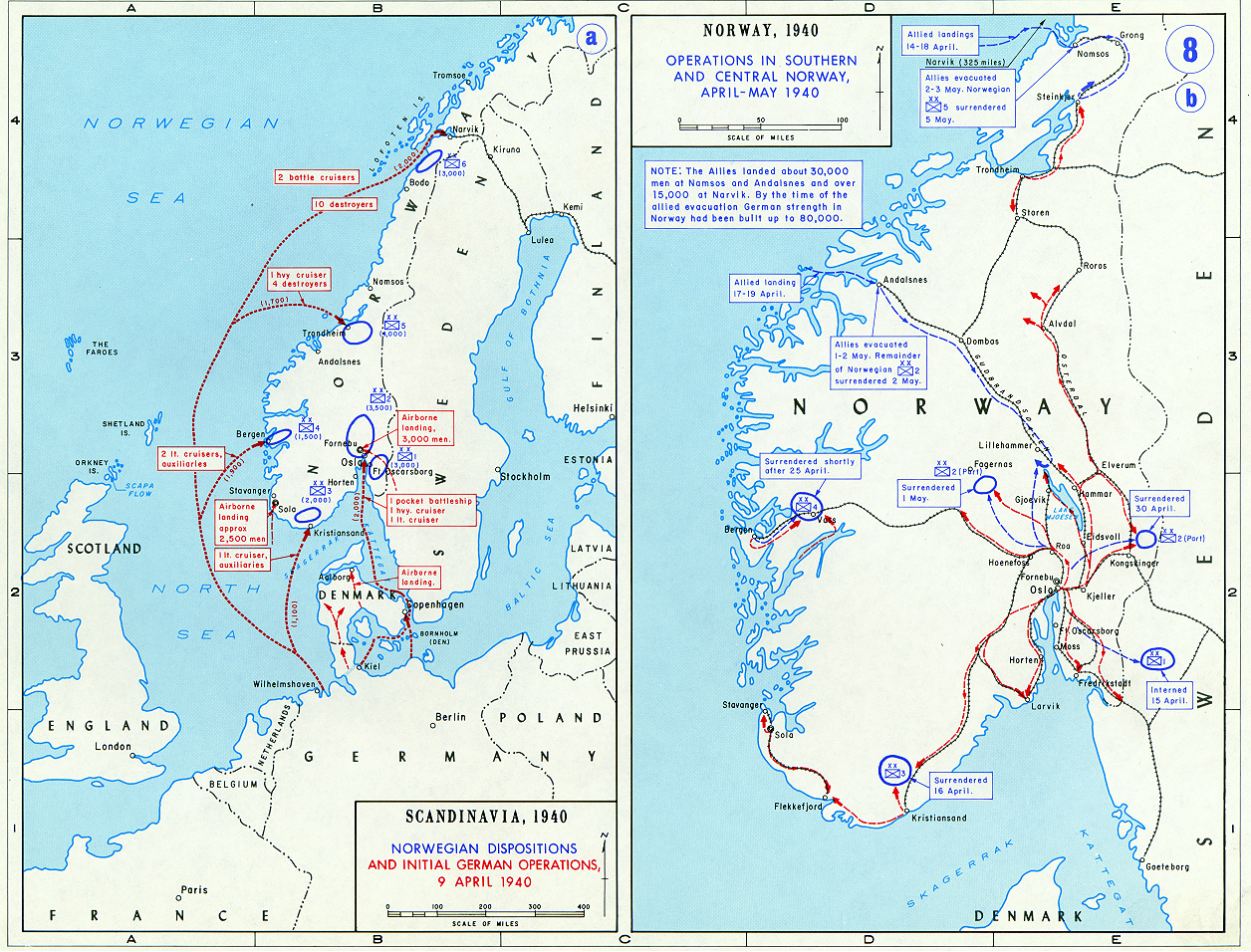 Battle Of Bjerkvik Operation Weserübung Maps Norway Historical Resources About