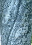 Alief Cemetery, Alief Ozelda Magee gravestone