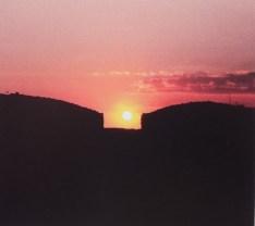Sunset behind House of Thirteen Heavens