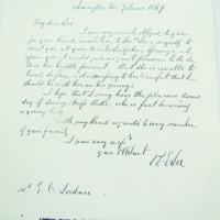 1869, Robert E. Lee letter to Clarendon Jordan