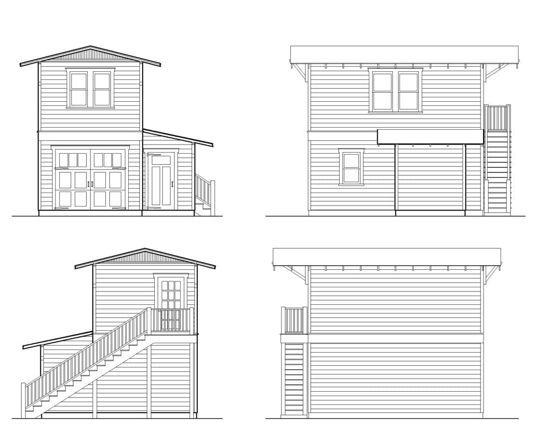 Garage Apartment Two Story One Car Garage Apartment Construction Plans