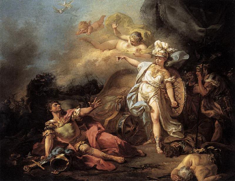 Gevecht tussen Ares en Athena - Jacques-Louis David (Louvre)