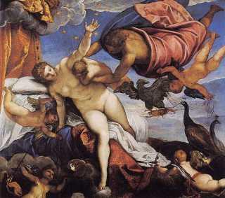 Herakles, Hera en het ontstaan van de Melkweg - Tintoretto (1518-1594)
