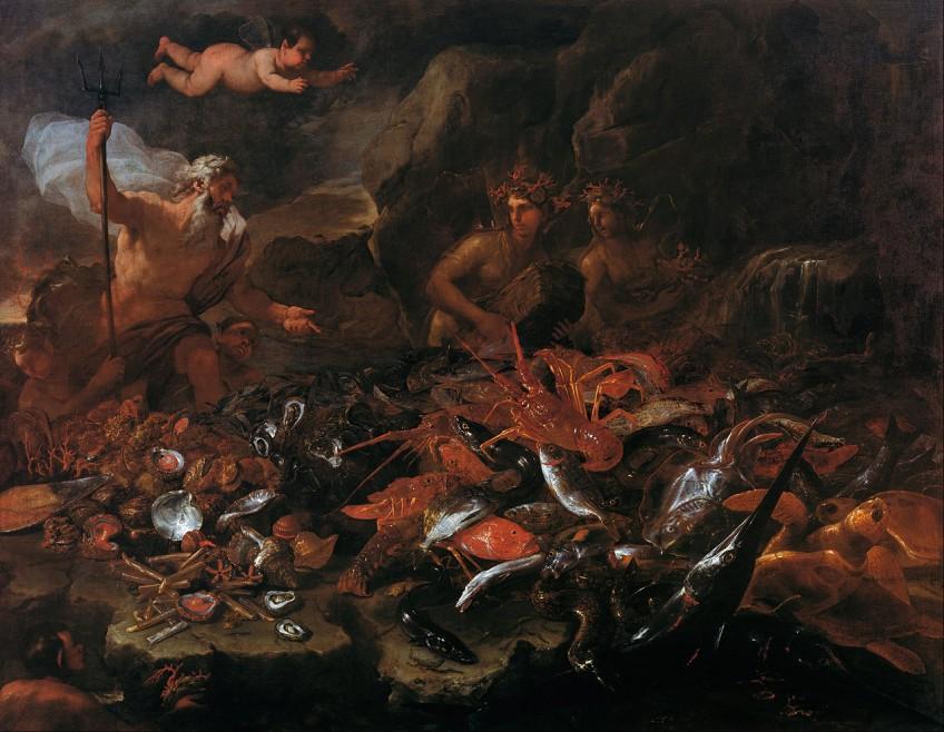 Neptunes (Poseidon) en de rijkdom van de zee - Luca Giordano