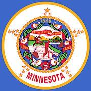 Zegel / embleem van de Amerikaanse staat Minnesota