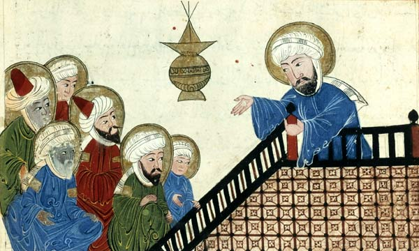 illustratie van Mohammed in een zeventiende-eeuwse kopie van een veertiende-eeuws exemplaar van een werk van Al-Biruni.