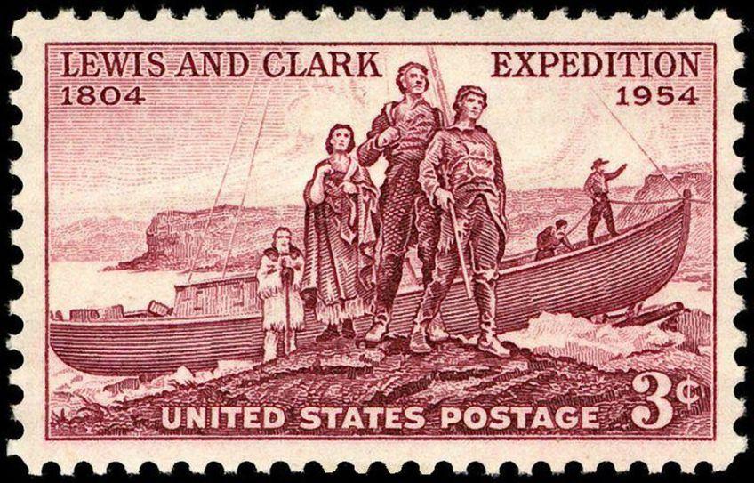 Postzegel Lewis en Clark