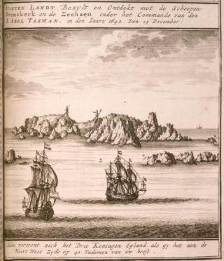 De Zeehaen en Heemskerck voor Driekoningeneiland