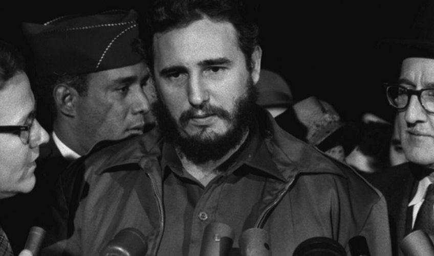 Fidel Castro bij zijn aankomst in Washington D.C., ten tijde van de Cubaanse Revolutie (1959)