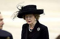 Thatcher op de begrafenis van Ronald Reagan (2004)