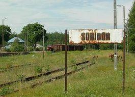 Treinstation van Sobibor (foto: Jacques Lahitte)