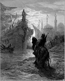 Alexius V spreekt met Enrico Dandolo (Afbeelding: Gustave Doré)