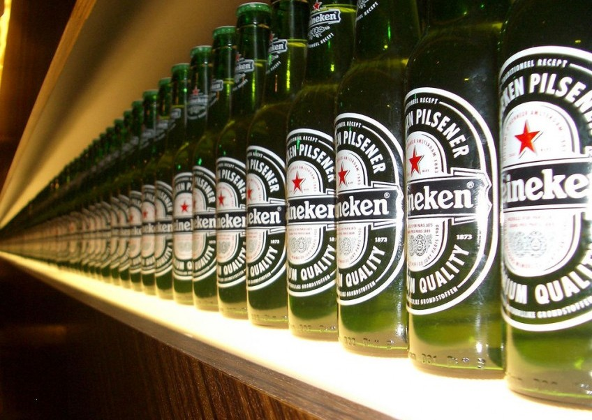Bierflessen van Heineken - cc