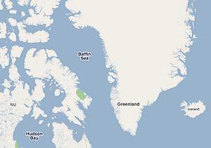 De naar de ontdekkingsreiziger vernoemde Baffinbaai