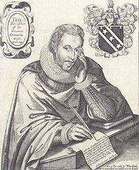 Portret dat Renold Elstracke rond 1615 van Sir Thomas Overbury maakte