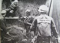 Argentijnse patrouille tijdens de Falklandoorlog