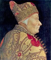 Francesco Foscari (Portret geschilderd door Lazzaro Bastiani rond 1460)