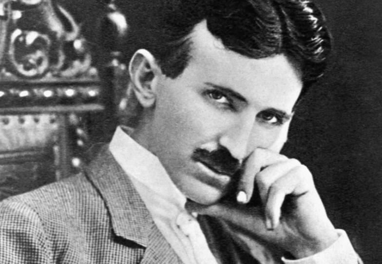 Nikola Tesla omstreeks 1896