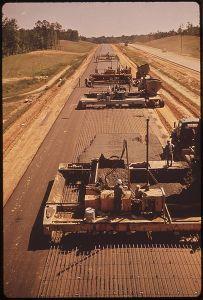 Aanleg van Interstate 55 in Mississippi (1972)
