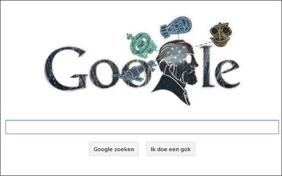 Google Doodle voor Konstantin Tsjolkovski, 17 september 2012