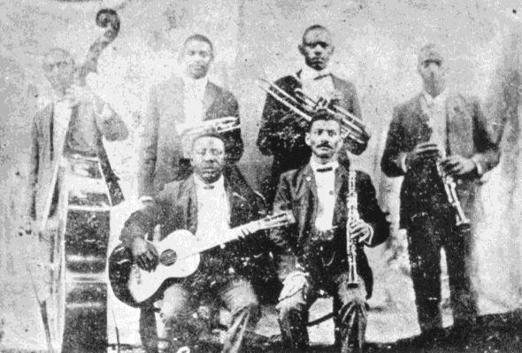 "De band van Charles Joseph ""Buddy"" Bolden, ca. 1905"