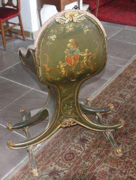 Het stoeltje in Kasteel Amerongen - Foto: Roel ten Klei