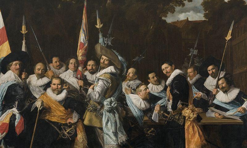 ergadering van officieren en onderofficieren van de Cluveniersschutterij van Haarlem, 1633, door Frans Hals, Frans Hals Museum, Haarlem